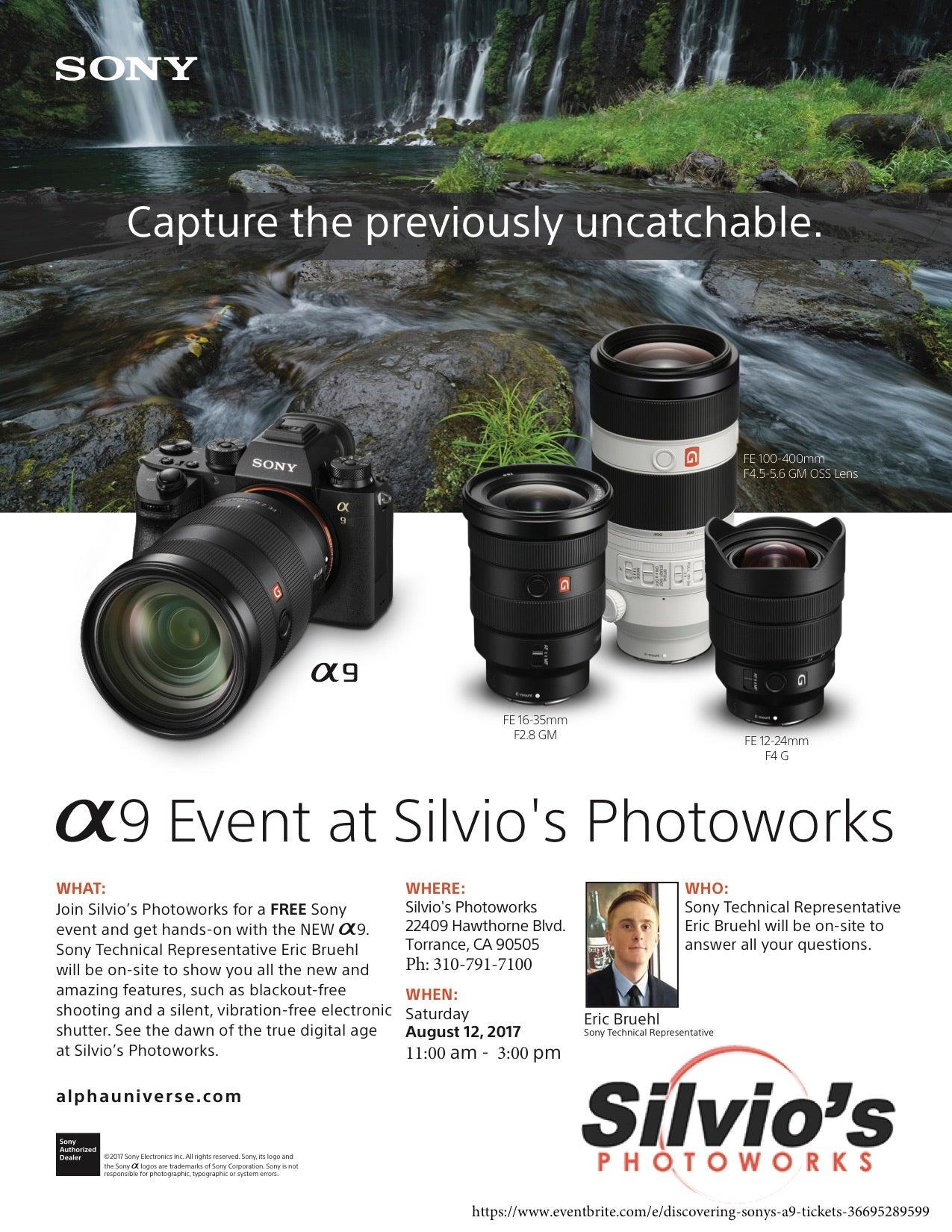 Discover The Sony A9 At Silvio S Photoworks Sony Alpha