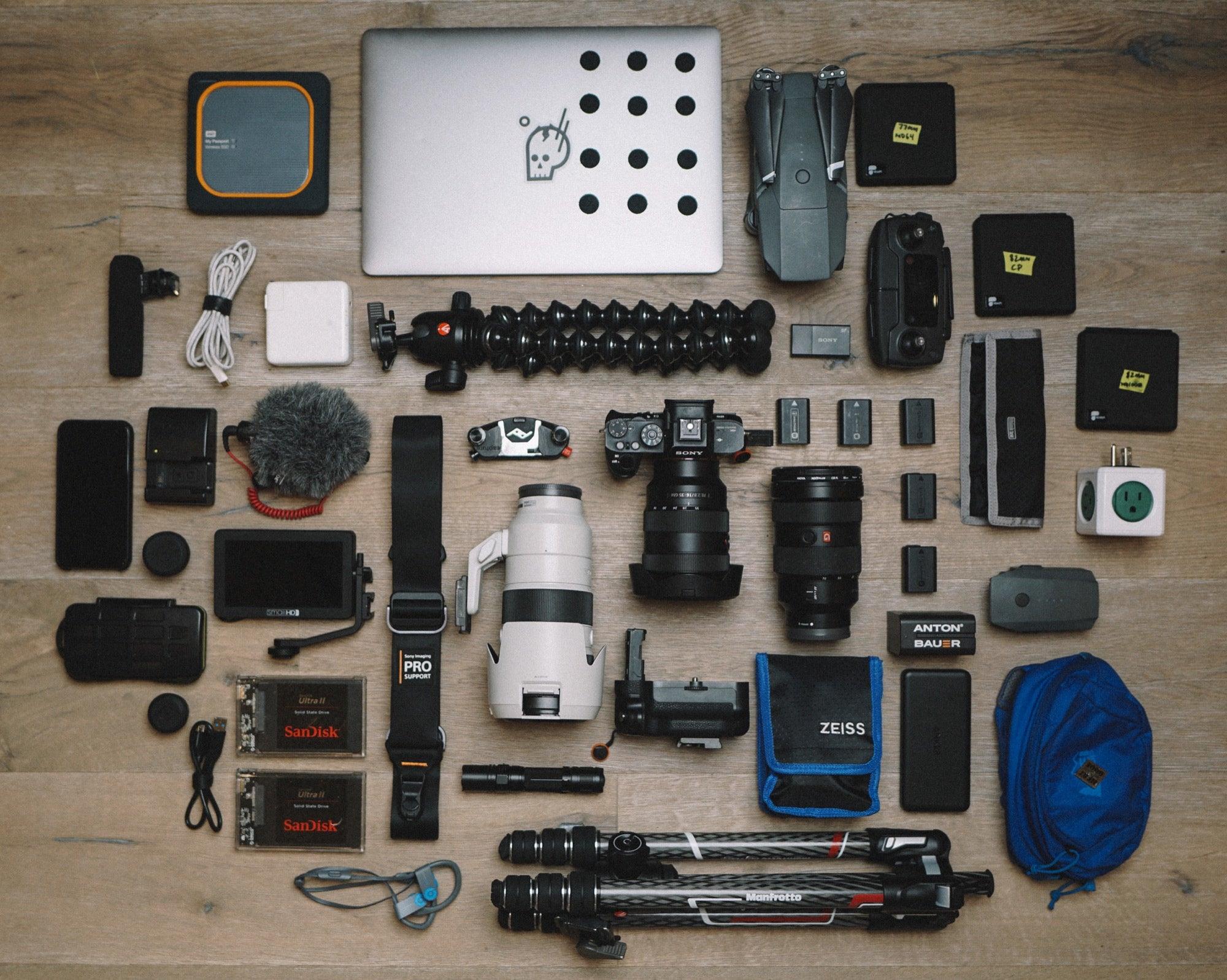 "Handle Carry Case Pro Camera Tripod 67/"" Geared Level"