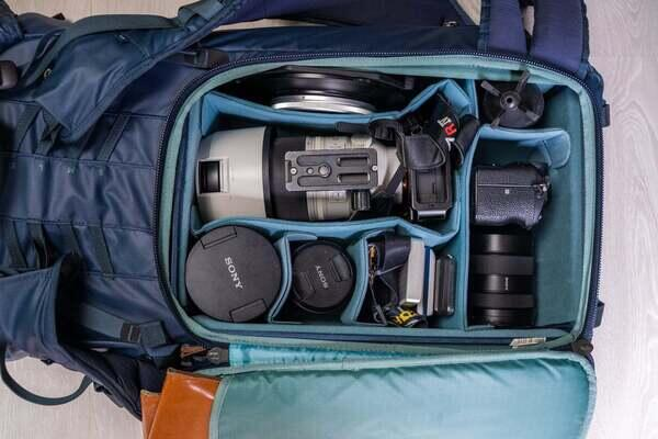 Albert Dros packs his bag of Sony Alpha cameras and lenses efficiently when he travels for landscape and astro photos