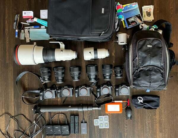 Jean Fruth's Sony Alpha kit for capturing all things baseball