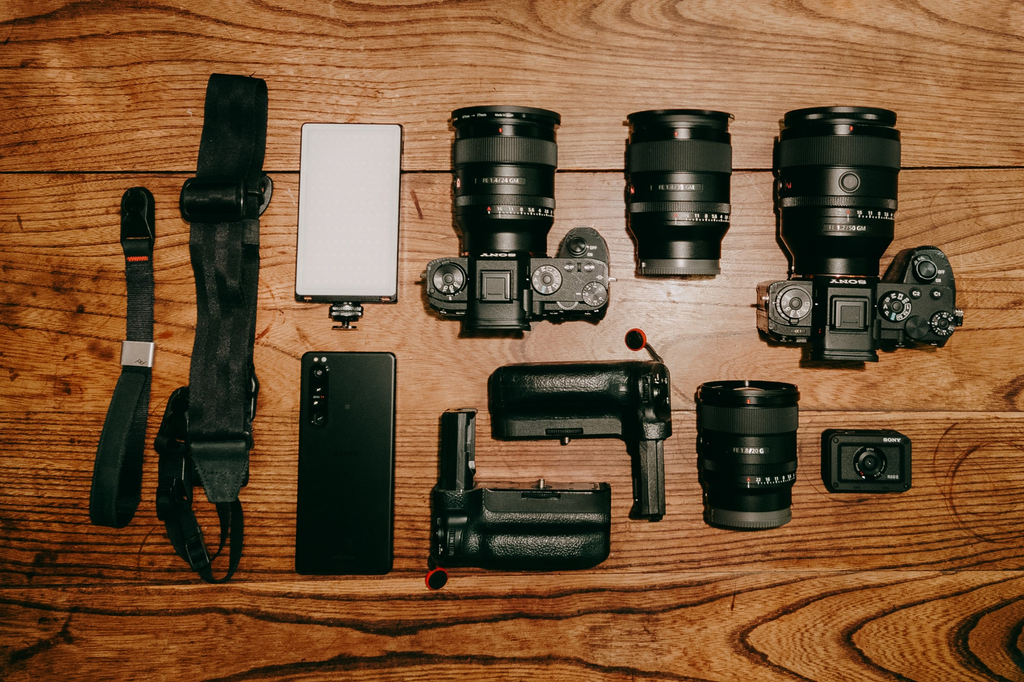 Ippei and Janine's Sony kit for photography includes the Sony Alpha 1, Sony Alpha 9, Sony Xperia 1 III + more