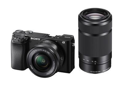 Sony α6100 + 16-50mm & 55-210mm Lenses – Black