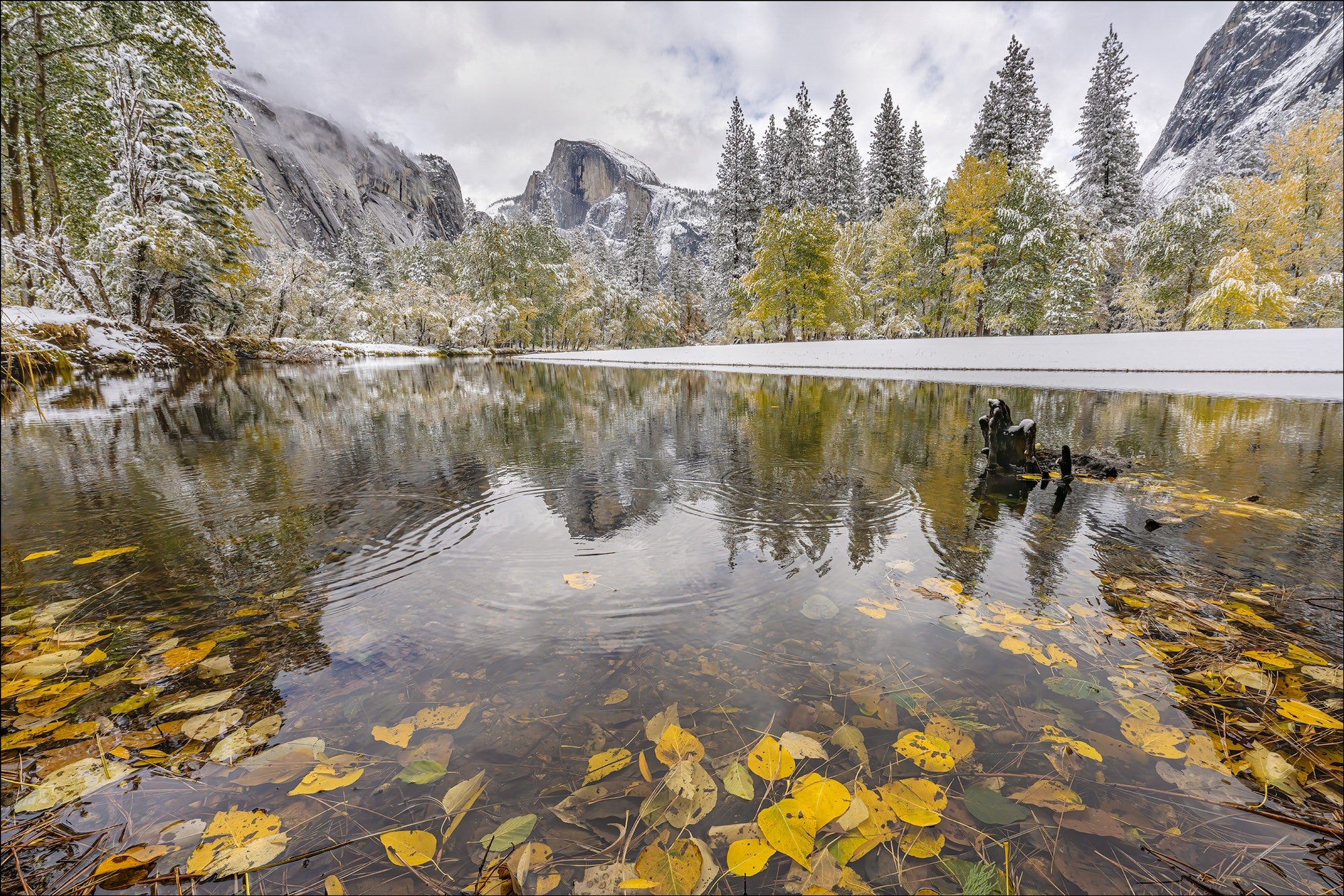 Half Dome Reflection - Photo by Gary Hart Snowfall in Yosemite with Sony 12-24mm f2.8 G Master Lens and A7R IV - Alpha Universe