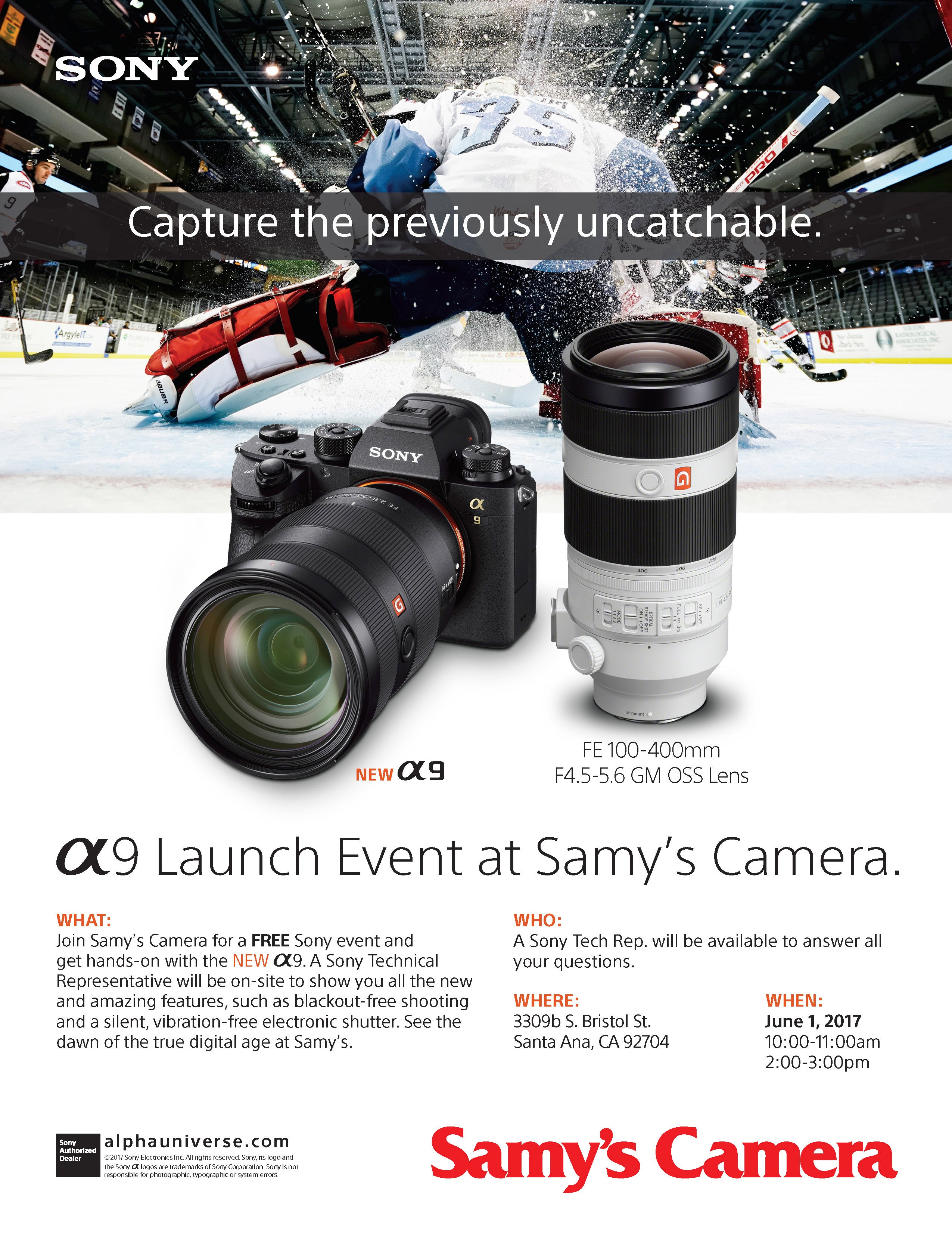 A9 Launch Event At Samy S Camera Orange County June 1st