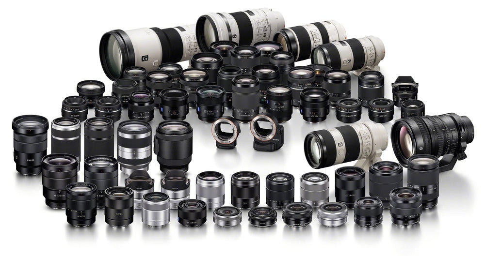 Complete Sony lens lineup