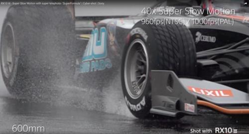 Une vidéo en 4K et en super ralenti avec le RX10 III de Sony